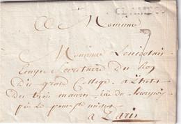 FRANCE  1793 LETTRE DE CLAMECY AVEC CORRESPONDANCE - 1701-1800: Précurseurs XVIII