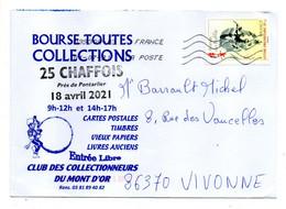 """2021--tp  An Chinois  """" Année Du Buffle """".........  Seul Sur Lettre Illustrée - 1961-...."""