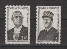 Nouvelle Calédonie 1971 C De Gaulle 377-378 2 Val ** MNH - Nuevos