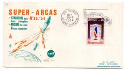 1974 --- Tp 50ème Anniversaire Flamme De L'arc De Triomphe-SUPER-ARCAS -Nasa--cachet Et Flamme  KOUROU -Guyane - 1961-....