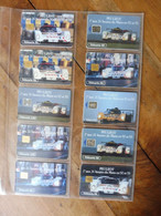 10 Télécartes (automobiles De Courses Des 24 Heures Du Mans)  FRANCE TELECOM -->  PEUGEOT Se Bat Pour ESSO - Voitures