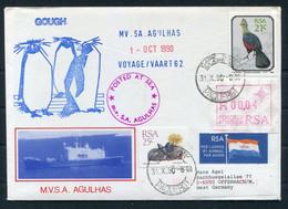 1990 South Africa, Cape Town Paquebot, M.V.S.A. AGULHAS Ship Cover. Gough Penguins - Covers & Documents