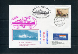 1991 South Africa, Cape Town Paquebot, M.V.S.A. AGULHAS Ship Cover. Antarctic Gough - Covers & Documents