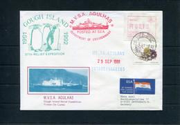 1991 South Africa, Cape Town Paquebot, M.V.S.A. AGULHAS Ship Cover. Antarctic Gough Penguin - Covers & Documents