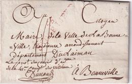 FRANCE LETTRE DE SARRE LIBRE  AVEC CORRESPONDANCE - 1801-1848: Precursores XIX