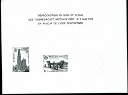 Belgique    ZNP 11   Europa78 - Black-and-white Panes