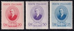Regno D'Italia Marconi 1938 Serie Completa Sass. 436/438 MNH** Cv 25 - Neufs