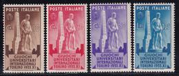 Regno D'Italia Giuochi 1933 Serie Completa Sass. 341/344 MNH** Cv 20 - Nuevos