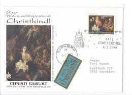 27409 - Christkindl 1990 Cover Lettre Pour Dornbirn 04.01.1990 Christi Geburt - Christmas