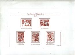 Carte Au Fil Du Timbre Sport - Documents De La Poste