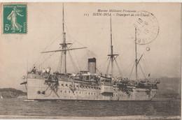 CPA  Bateaux SS  Le Paquebot Bien Hoa De La Marine Militaire  Construit à  Graville (76)  Navire Hopital Puis Transport - Steamers