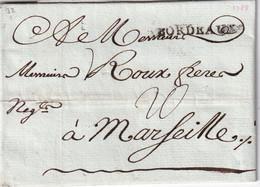 FRANCE 1788 LETTRE DE BORDEAUX AVEC CORRESPONDANCE - 1701-1800: Vorläufer XVIII