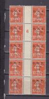CILICIE 91 BLOC 10 INTERPANNEAU MILL 6-POSITION 4 VARIETE ESPACEMENT ETROIT ENTRE CILICIE ET  PARAS NEUF SANS CHARNIERE - Unused Stamps
