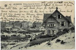 La Panne Villas Dans Les Dunes Circulée En 1929 - De Panne