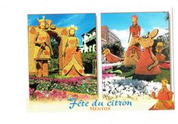 Cpm - MENTON - Fête DU CITRON - 2003 - ALICE Au Pays Des Merveilles - N°06-03 - Oiseau Souris - Carnival