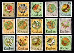 1995 Kiribati Butterflies And Moths Set From One Cent To One Dollar. - Kiribati (1979-...)
