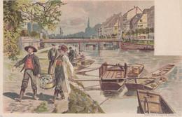 CPA - STRASBOURG (BAS-RHIN) - ILL FISCHMARKT - ARRIVAGE DU POISSON (D'APRÈS HENRY GANIER ALIAS TANCONVILLE) - Strasbourg