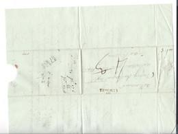 Lettre 1806 Linéaire Limoges  Déboursé DEB.18 TULLE  ( Couleur Bleue ) - 1801-1848: Precursors XIX