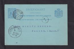 1895 - 5 C. Ganzsache Ab Rotterdam Stn.Beurs Nach Fürth - Covers & Documents