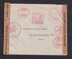 1941 - Freistempel Auf Brief Ab Soerabaja Nach USA - Zensur - Netherlands Indies