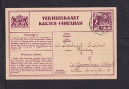 1934 - 2 C. Adress-Änderungs-Ganzsache Ab Bandoeng Nach S'Gravenhage - Netherlands Indies