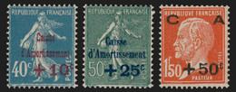 N°246/248, Caisse D'Amortissement 1927, Neufs ** Sans Charnière - TB - Neufs