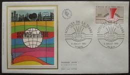 FRANCE FDC Sciences De La Terre 05-07-1980 Paris - 1980-1989