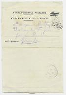 CARTE LETTRE FM ILLUSTRATION D' UN AVION TRESOR ET POSTES 11 1916 POUR GIRONDE - Military Service Stampless