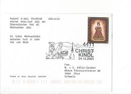 27440 - Christkindl 2001 Carte Pour Chur 24.12.2001 Frohe Weihnachten Merry Christmas - Christmas