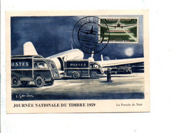 ALGERIE CARTE MAXIMUM 1959 JOURNEE DU TIMBRE - ALGER - Storia Postale