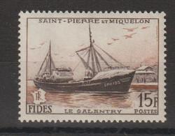 Saint Pierre Et Miquelon 1956 Fides Chalutier 352 1 Val ** MNH - Unused Stamps