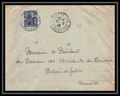 115091 Seul Sur Lettre Cover Bouches Du Rhone N°257 Orléans Par Jeanne D'Arc Marseille 1928 - 1921-1960: Modern Period