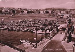 13 MARSEILLE, Le Port, Panorama, Réserve De Pointus, Carte Dentelée Glacée - Vecchio Porto (Vieux-Port), Saint Victor, Le Panier