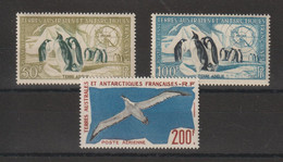 TAAF 1956-59 Faune PA 2-4 3 Val ** MNH - Luchtpost