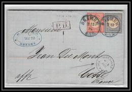 41068 Lettre LAC Allemagne Pag Paris (Deutschland) Bremen 1872 Pour Cette Sète Herault France - Bremen