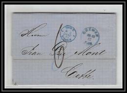 41253 Lettre LAC Allemagne Deutschland Bremen Tour-T Forbach 1867 Cette Herault France Marque D'entree Vorlaufer - Bremen