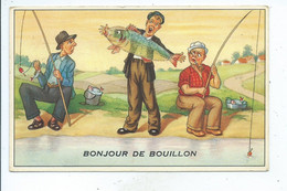 Bouillon Pêcheur Bonjour ( Voir Cachet ) - Bouillon