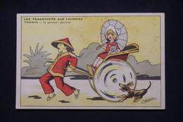 """ILLUSTRATEURS  - Carte Postale """" Transports Aux Colonies """" - Le Pousse Pousse Au Tonkin - L 101552 - Andere Illustrators"""