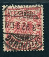 Deutsches Reich Michel Nummer 47ba Gestempelt Geprüft - Gebruikt