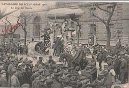 75 PARIS CAVALCADE DU BOEUF GRAS 1908 Le Char Des Sports  CPA TBE - Other