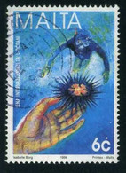 Malta - Sea Urchin And Diver | Diving (Scuba-Snorkelling) | Environment Protection | Hands | Sports | Ocean - Marine Life