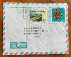 MADAGASCAR - MALAGASY - BUSTA PAR AVION  FRON TANANARIVE TO FIRENZE - Madagaskar (1960-...)