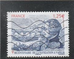 FRANCE 2016 BICENTENAIRE DE LA NAVIGATION A VAPEUR JOUFFROY D ABBANS OBLITERE YT 5044 - - Used Stamps