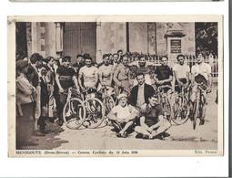 79 - MENIGOUTE - Course Cycliste Du 14 Juin 1936 Beau Plan De Groupe Avec Des Courreurs Bon Etat - Autres Communes