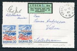 1968 Sweden Christmas Postcard. Postage Due, Taxe Losen - Briefe U. Dokumente