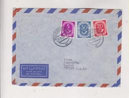 GERMANY HAMBURG 1952 Nice Airmail Cover To Yugoslavia - Cartas