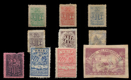 VALENCIA. 1900 Ca. Lote Compuesto Por 10 Distintas Viñetas. Algunas Con Defectos. Examinar. - Nationalistische Ausgaben