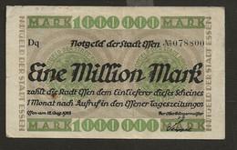ALLEMAGNE / Emission Locale  ( Argent D'urgence De La Ville D'Essen )  Eine 1 Million Mark 1923 - [11] Local Banknote Issues