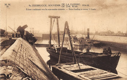 Zeebrugge - Ecluse Conduisant Vers Les Sous-marins Ennemis - Zeebrugge