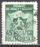 Poland 1951 Flag And Sports Emblem - Mi 705A - Used - Used Stamps